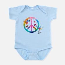 Tree Frogs 4 Peace Symbols Infant Bodysuit