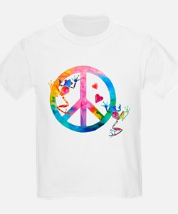 Tree Frogs 4 Peace Symbols T-Shirt