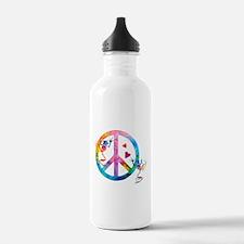 Tree Frogs 4 Peace Symbols Sports Water Bottle