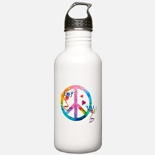 Tree Frogs 4 Peace Symbols Water Bottle