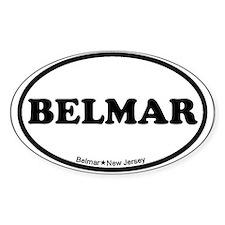 Belmar NJ - Oval Design Decal