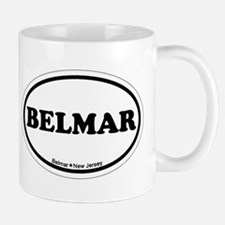 Belmar NJ - Oval Design Mug