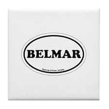 Belmar NJ - Oval Design Tile Coaster