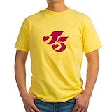 J5 Mens Classic Yellow T-Shirts