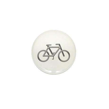 """Silver Bike"" Mini Button (100 pack)"