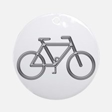 """Silver Bike"" Ornament (Round)"