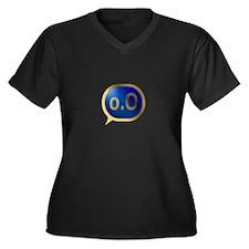 BlueCrush Gold - o.O Women's Plus Size V-Neck Dark