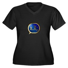 BlueCrush Gold - x.X; Women's Plus Size V-Neck Dar