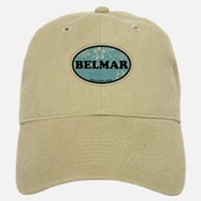 Belmar NJ - Oval Design Baseball Baseball Cap
