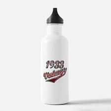 Born in 1933 birthday Water Bottle