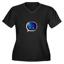 BlueCrush Gold - ; ; Women's Plus Size V-Neck Dark