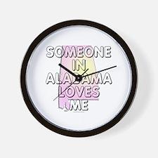 Someone in Alabama Wall Clock