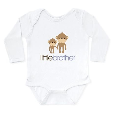 Little Brother Monkey Long Sleeve Infant Bodysuit