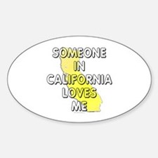 Someone in California Decal