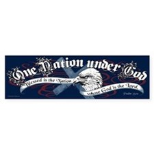 One Nation - Blessed Car Sticker