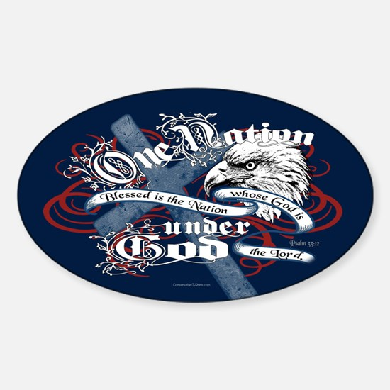 One Nation - Blessed Sticker (Oval)