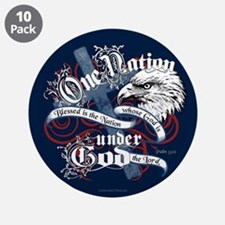 """One Nation - Blessed 3.5"""" Button (10 pack)"""