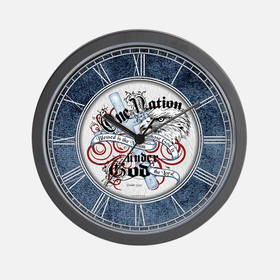 One Nation - Blessed Wall Clock