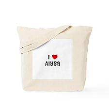 I * Alysa Tote Bag