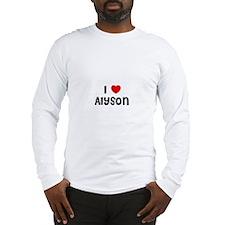 I * Alyson Long Sleeve T-Shirt