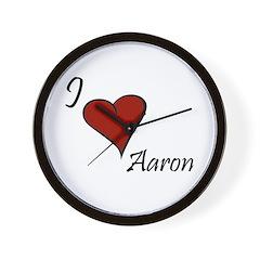 I love Aaron Wall Clock