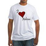 I love Adrian Fitted T-Shirt