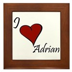 I love Adrian Framed Tile