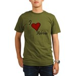I love Adrian Organic Men's T-Shirt (dark)