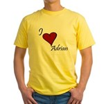 I love Adrian Yellow T-Shirt