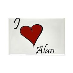 I love Alan Rectangle Magnet