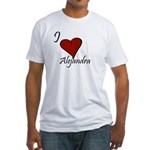 I love Alejandra Fitted T-Shirt
