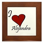 I love Alejandra Framed Tile