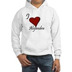I love Alejandra Hooded Sweatshirt
