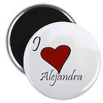 I love Alejandra Magnet