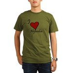 I love Alejandra Organic Men's T-Shirt (dark)