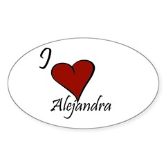 I love Alejandra Decal