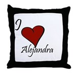 I love Alejandra Throw Pillow