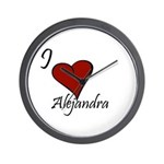 I love Alejandra Wall Clock