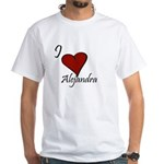 I love Alejandra White T-Shirt