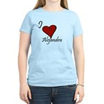 I love Alejandra Women's Light T-Shirt