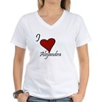 I love Alejandra Women's V-Neck T-Shirt