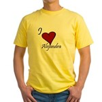 I love Alejandra Yellow T-Shirt