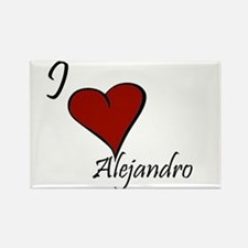 I love Alejandro Rectangle Magnet