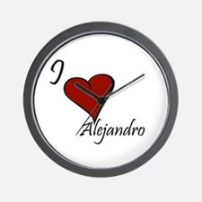 I love Alejandro Wall Clock