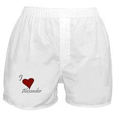 I love Alexander Boxer Shorts