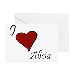 I love Alicia Greeting Cards (Pk of 10)