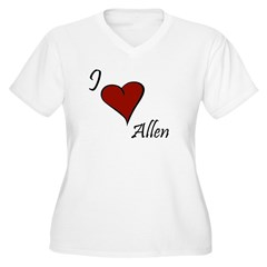I love Allen Women's Plus Size V-Neck T-Shirt
