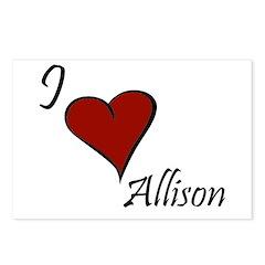I love Allison Postcards (Package of 8)