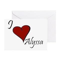 I love Alyssa Greeting Cards (Pk of 20)