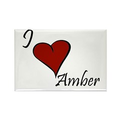 I love Amber Rectangle Magnet (100 pack)